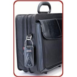 cadenas alarme a combinaison sur sac ordinateur portable