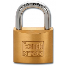 customised padlock with laser engraving en