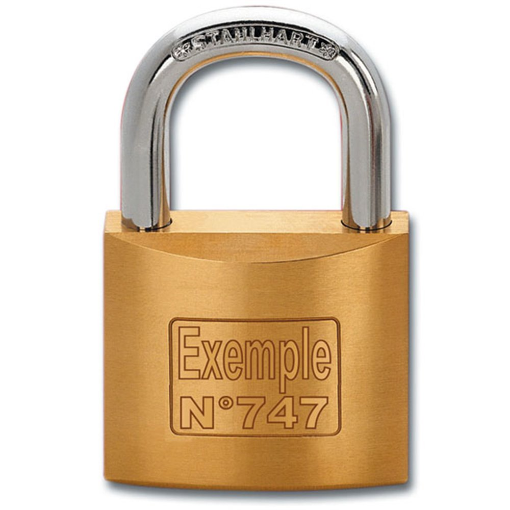 customised padlock with laser engraving en