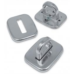 trois plaques ancrage antivol en acier