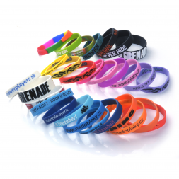 wristbands silicone numerous colors en
