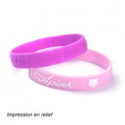 deux bracelets silicones rose fonce et rose clair