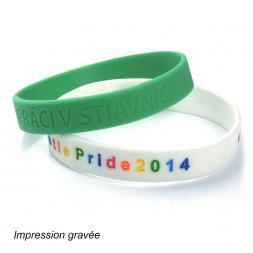 bracelet silicone un vert et un numerote