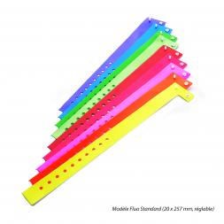 bracelet securise vinyle souple vierge couleur unie taille standard