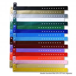 Bracelet sécurisé vinyle souple vierge couleur unie