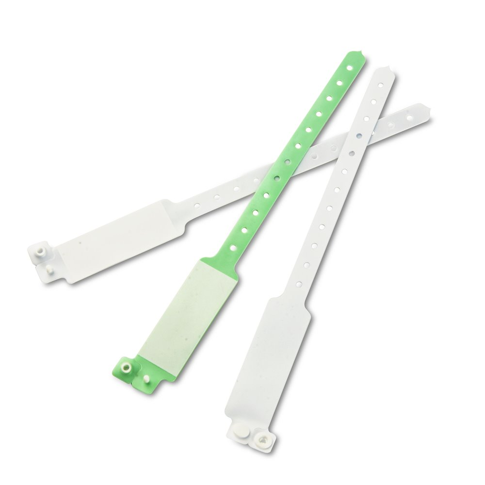 adult hospital wristband white and green