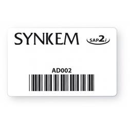 badge personnalise noi avec code barre