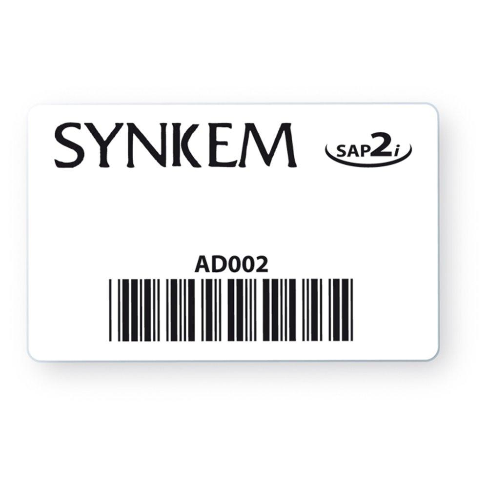 black pvc customized access badge