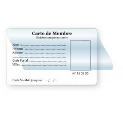 Badge personnalisé PVC 75/100ème noir