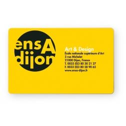 carte pvc personnalisee quadri recto jaune pour ensa dijon