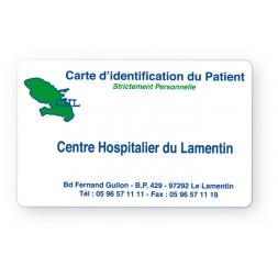 carte pvc personnalisee identification patient avec logo