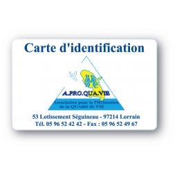 carte pvc personnalisee logo triangulaire pour une association