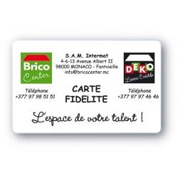 carte de fidelite en format carte pvc pour brico center