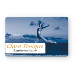 front/back pvc customized access badge for clara tonique society en