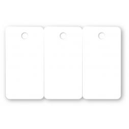 Tricarte perforée sécable PVC 75/100ème impression quadri