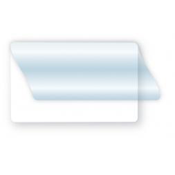 badge pvc vierge blanc rabat adhesif