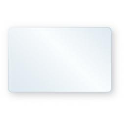 Badge PVC 50/100ème vierge blanc + rabat adhésif