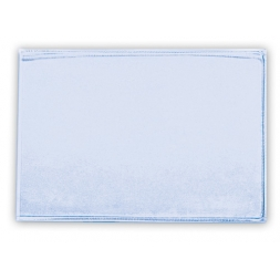 single transparent badge soft case