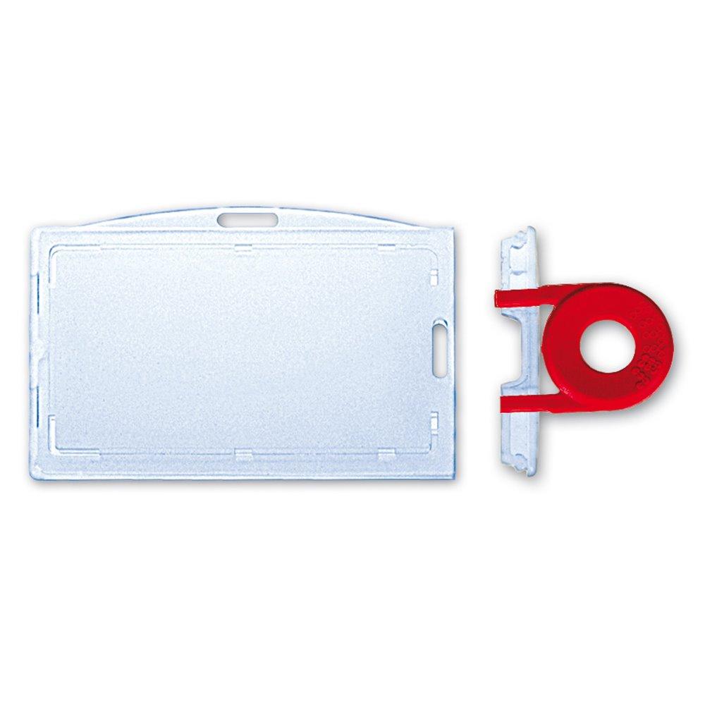 rigid badge holder with tamper proof seal
