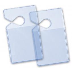 deux porte badge souples transparents pour retroviseur