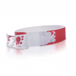 red blanktyvek security wristband