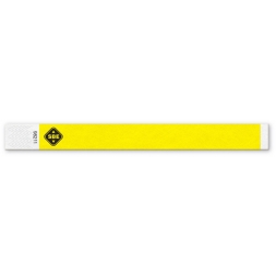 tyvek customized security wristband yellow color en
