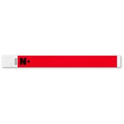 100 Rouge 19 mm Personnalisé les bracelets Tyvek entrée Parti Custom ticket d/'entrée