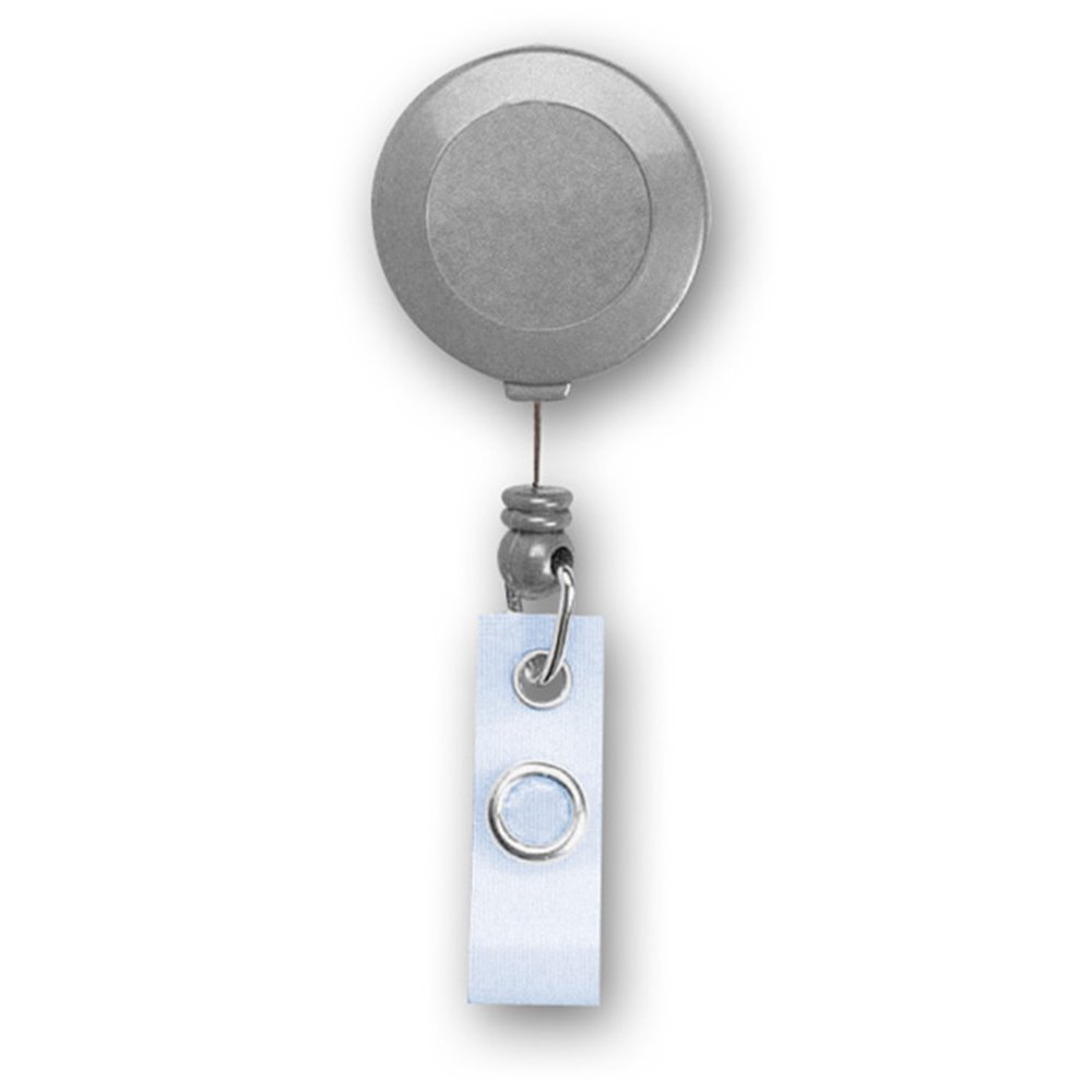 plastic solid color retractable reel for badge