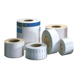 set of reinforced polyethylene tth blank asset label rolls