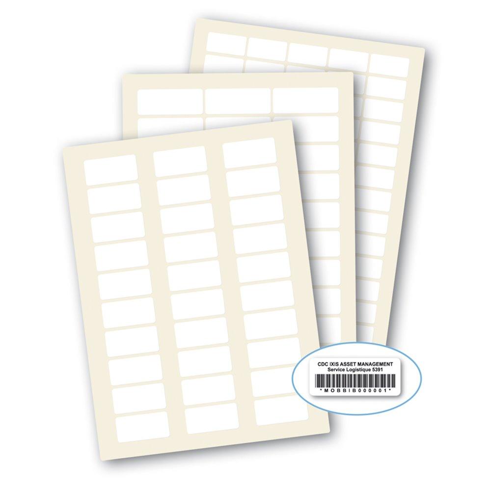 3m laserlab blank white polyester a4 laser printing asset label