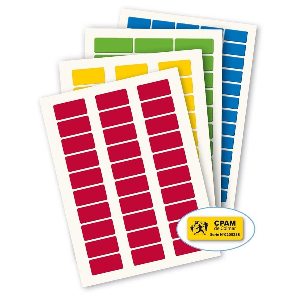 3m laserlab blank color polyester a4 laser printing asset label