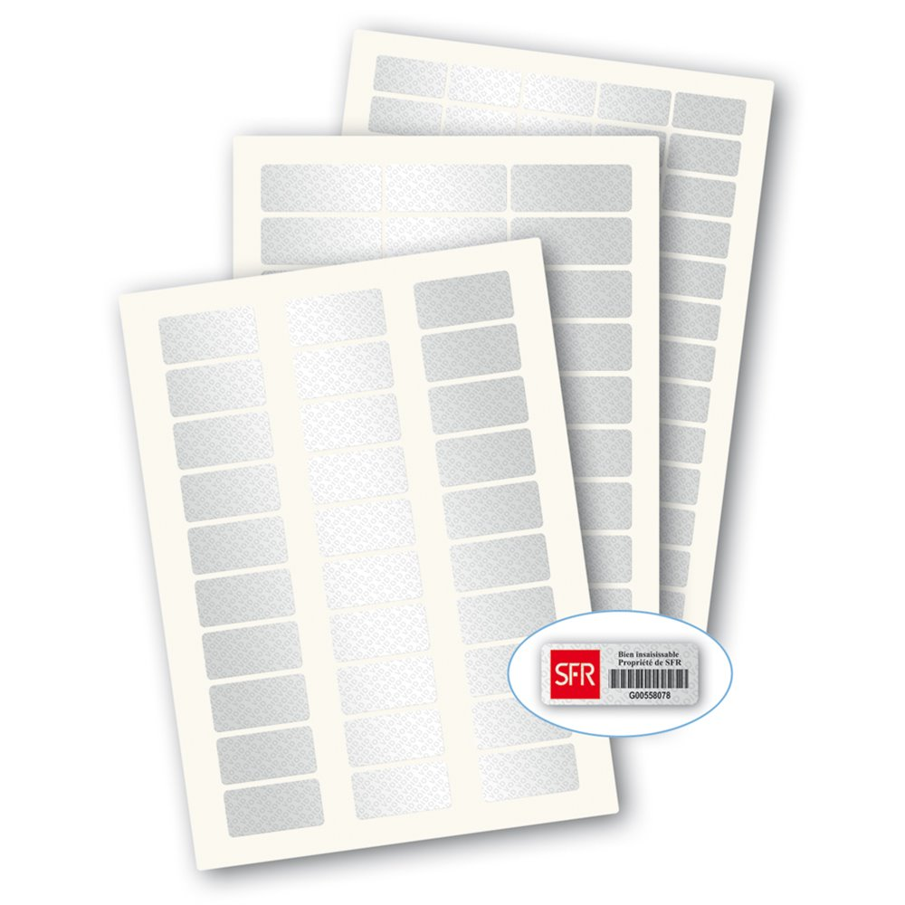 laserlab blank metallic a4 tamper proof laser printing label