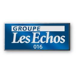 rigid anodized laser engraving aluminium asset tag personnalized for les echos en