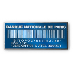 anodized laser engraving aluminium asset tag with barcode