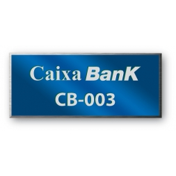 anodized laser engraving aluminium asset tag personnalised for caixa bank