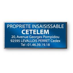 anodized laser engraving aluminium asset tag personnalised for cetelem