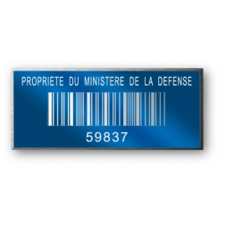 anodized laser engraving aluminium asset tag personnalised with barcode reference en