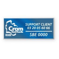 engraving alumunium asset tag personnalised for support client en