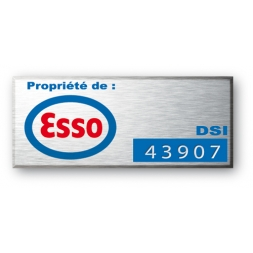 laser engraved aluminium asset tag for esso en