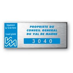 etiquette aluminium anodisee personnalisee pour le conseil general val de marne
