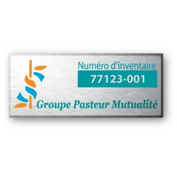 personnalized asset tag for groupe pasteur mutualite