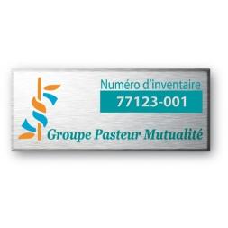 etiquette aluminium pour groupe pasteur mutualite