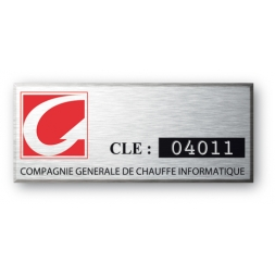 engraved alumunium asset tag for generale informatique compagny en