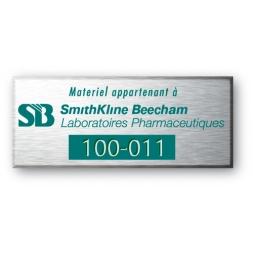plaque aluminium personnalisee pour smithkhane beecham fr