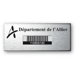 plaque personnalisee en aluminium pour le departement allier avec code barre