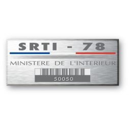 plaque aluminiumgravee pour le ministere de linterieur fran cais
