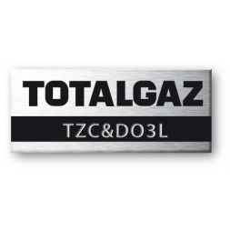 aluminium asset tag personnalised for totalgaz en