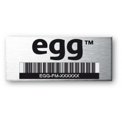 3m flexible aluminium asset tag for egg with barcode en
