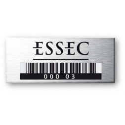 3M Flexible 0.15mm Aluminium Asset Tag Anodized Laser Engraving