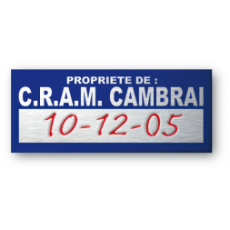 ultra flexible aluminium asset tag for c r a m property en